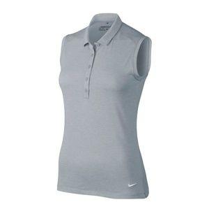 NWT Nike Icon Sleeveless Heather Golf Polo Shirt